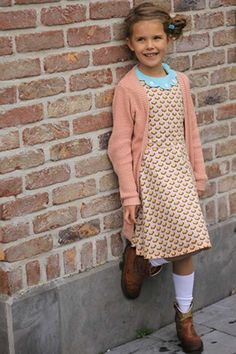 Ileana meets soft cactus, Hi. I'm Jolien. I'm very proud of my Ileana dress that my mommy sewed for me. Thedesign in theSoft Cactus fabric complimentsthe shape of colla...  #contest2015 #ileanadress #plain&simple #softcactus