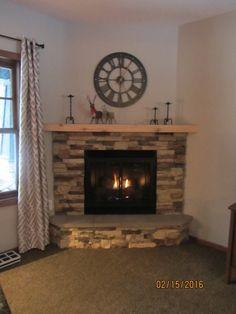 Cedar Creek DIY Go-Stone fireplace install. Outdoor Wood Burning Fireplace, Linear Fireplace, Fireplace Tool Set, Fireplace Inserts, Propane Fireplace Indoor, Fireplace Screens, Outdoor Fireplaces, Gas Fireplaces For Sale, Fireplace Mantels For Sale