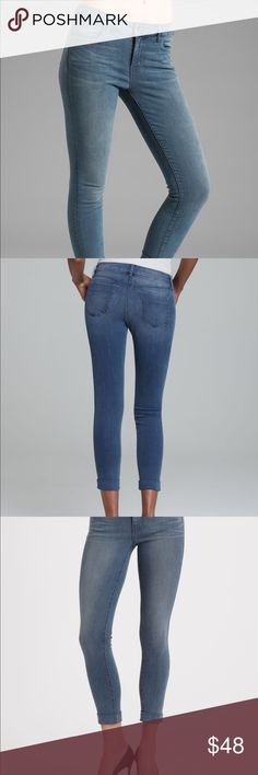 J Brand Anja Skinny Crop Jeans Stockholm Sz 26 J Brand skinny Cropped jeans with cuffed hem. Very stretchy material, stockholm wash. Worn a few times, it is a little big for me nowadays so it has been sitting in the closet. In very good condition. Please ask if you have any questions :) J Brand Jeans Ankle & Cropped