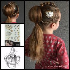 Fun hairstyle with a hair tattoo from the webshop www.goudhaartje.nl (see link in bio, worldwide shipping). #hair #haar #vlecht #vlechten #haartattoo #ponytail #hairstyle #braid #braids #hairstylesforgirls #plait #trenza #peinando #hairart #avantgarde #edgy #stunninghair #hairaccessories #hairinspo #braidideas #amazinghair #goudhaartje