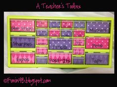 Another teacher toolbox but she has given a word document with the exact sizes you need to make this project. This way, it is editable so you can use your own words! Love it