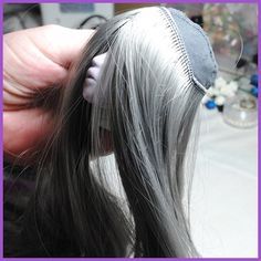 Making a doll's wig