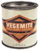 Vegemite was invented by a Melbourne food technologist, Cyril Percy Callister (1893-1949), in 1923, working in Fred Walker's small food company.  Under the trademark Vegemite it was placed on the market early in 1924 and slowly became an established item.  With the help of patents held by the American James L Kraft, Callister made a satisfactory product, and the Kraft Walker Cheese Co. was established in 1926 with Callister as chief chemist. (Australian Dictionary of Biography, Vol7, 1979)