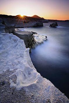 When the Sun Goes Down | Sarakiniko Bay, Milos Island, Greec… | Flickr
