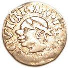 """HUNGARY Louis The Great (1342-1382) Silver Denar Coin EH#432 """"Saracen head"""" - http://coins.goshoppins.com/medieval-coins/hungary-louis-the-great-1342-1382-silver-denar-coin-eh432-saracen-head-2/"""