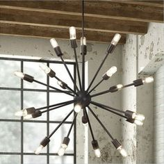 Zuo Shire Ceiling Lamp In Large Rust Like A E Probe From The Mid