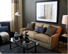 blue and tan living room - Google Search