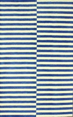 Rugs USA Santa Ana Striped SM22 Blue Rug