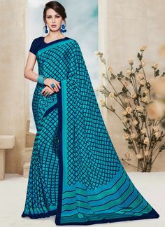 Buy designer party wear saree from our latest collection. Order this floral print work printed saree.