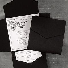 51 black wedding invitations ideas