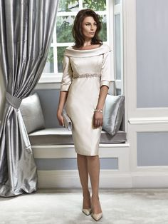An elegant Mother of the Bride & Mother of the Groom dress from the Portofino 2016 Collection by Ian Stuart London. This porcelain/cream coloured dress has been designed using a slipper satin fabric and has an embellished band around the waist. Product code ISL650. View more Mother of the Bride / Groom dresses from our Ian Stuart collection at: http://www.baroqueboutique.co.uk/mother-of-the-bride-south-wales/ Photographs courtesy of: http://www.ianstuart-london.com/