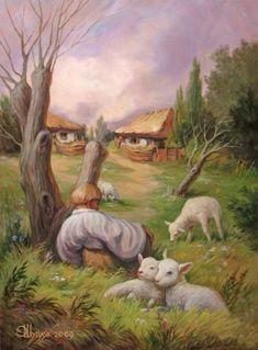 Ogni dipinto nasconde un volto: riuscite a vederlo?