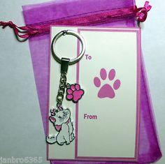 Novelty-Kawaii-Cute-Disney-Pink-Aristocat-Marie-the-Cat-Charm-Pendant-Keyring