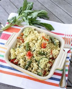 ... and Zucchini Couscous with Basil Lemon Dressing from A Big Mouthful