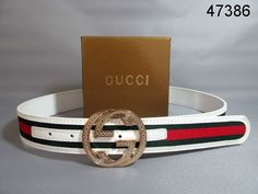 572952953d1 Gucci Belt Gold Interlocking G Buckle white green red signature web 86