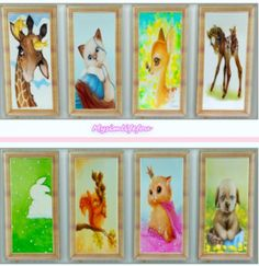 Simlife: Cute Animals Paintings • Sims 4 Downloads  Check more at http://sims4downloads.net/simlife-cute-animals-paintings/