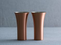 Copper Tumbler is a minimalist design created by Japan-based designer WDH. The set consists of two tumblers made of pure copper, and manufactured by some of the most skilled craftsmen in Japan. (1)