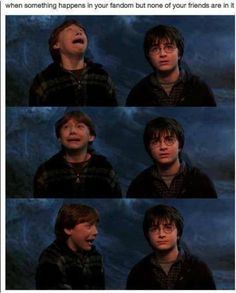Me being a nerdy fangirl while watching Lotr, Harry Potter, or the Avengers. My friend on the other hand, who is not a nerd. Magia Harry Potter, Mundo Harry Potter, Hogwarts, Harry Potter Universe, When Someone Dies, Haha, My Sun And Stars, Book Fandoms, Rick Riordan