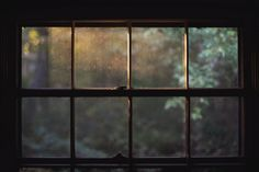 Through the glass.