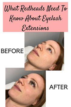 88de4428d23 Eyelash Extensions 101 for Redheads Eye Liner Tricks, Eyelash Tips, Eyelash  Curler, Eyelashes