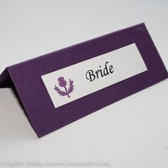 Scottish Thistle Design Purple Place Cards - Vintage Wedding Stationery Scotland - VOWS Award Nominee 2013 Purple Wedding Stationery, Modern Wedding Invitations, Wedding Invitation Design, Purple Cards, Scottish Thistle, Wedding Place Cards, Vows, Wedding Planning, Place Settings