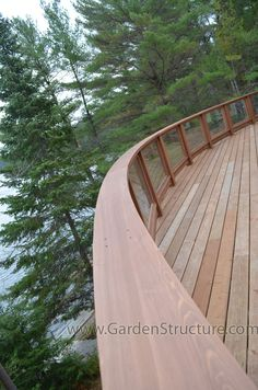 Curved Top Deck Rails-- Laminated Red Cedar
