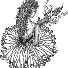 ♡ ᗷᗩᒪᒪEᖇIᑎᗩ ♡ #artworks #illustrations #handdrawings #fineartprints (order-link in bio/DM)