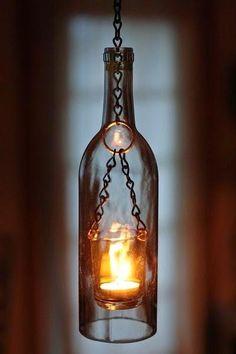 Reciclar botellas de cristal puede dar unos resultados muy bonitos, ¿te animas?