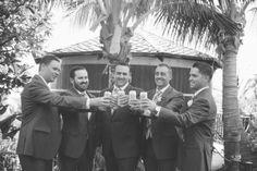 Groomsmen toast at Coco Palms http://amauiweddingday.com