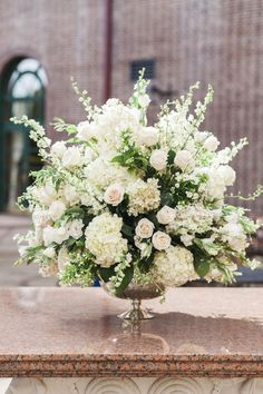 Breathtaking Church Wedding Decorations ★ church wedding decorations large fluffy bouquet with ruddy and white flowers and greens tanya salazar photography Church Wedding Flowers, Altar Flowers, Church Flower Arrangements, Church Wedding Decorations, Wedding Flower Arrangements, Wedding Centerpieces, Wedding Bouquets, Elegant Centerpieces, Blush Centerpiece