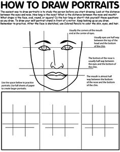 How to Draw Portraits Coloring Page via crayola.com