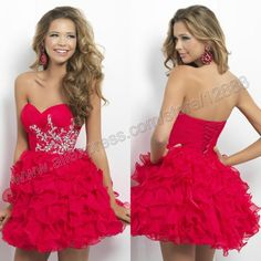 Ball Gown Chiffon Free Shipping Mini Prom Gown Short Homecoming Dress 2014 New Design $109.99