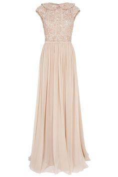 Cap SLB Beaded Top Silk Gown By ELIE SAAB @ http://www.boutique1.com/