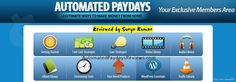 Jamie Shaw's Automated Paydays Review with Members Area