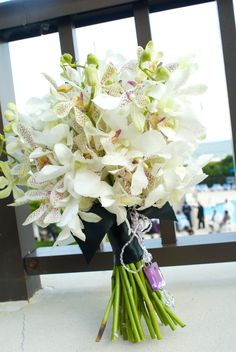 White Orchids for Maid of Honor Bouquet