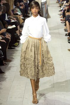 Sewing inspo: This pretty skirt! Michael Kors Collection Spring 2016 Ready-to-Wear Fashion Show