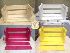 Essa moda de usar caixotes para substituir móveis dentro de casa pegou mesmo, né? Eu ganhei alguns caixotes que sobraram da decoração da cozinha de uma amiga e fiquei um bom tempo pensando no que fazer com eles. Existe muita coisa legal pra se fazer e...