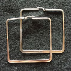 Selling this Large Trendy Square Stainless Steel Hoops in my Poshmark closet! My username is: andithorpe. #shopmycloset #poshmark #fashion #shopping #style #forsale #N/A #Jewelry