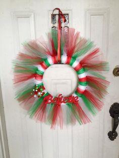 Believe tulle wreath. $35.00, via Etsy.