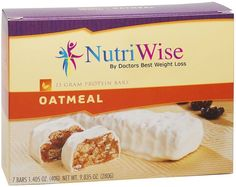 NutriWise - Oatmeal Diet Protein Bars (7 bars) * Remarkable product available now. : Bars Snacks Weight loss dietry