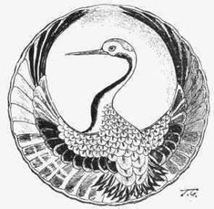 line drawing blue crane - Google Search