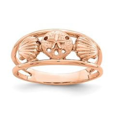 14K Rose Brushed and Polished Sealife Ring / STYLE: D4727 #SealifeRing Gifts For Women, Gifts For Her, Rose Gold Brushes, Diamond Tops, Fine Jewelry, Women Jewelry, Vintage Diamond, Diamond Wedding Bands, Jewelry Trends