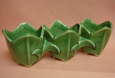 Vintage McCoy Green Tulip Planter. $28.99, via Etsy.