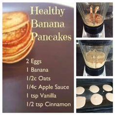 Honeybee Homemaker: 21-Day Fix RECIPE: Banana Pancakes 1 red, 1.5 purple, 1 yellow ;)