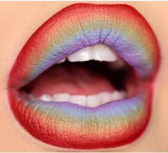 Try a rainbow lip for #Pride! @looks_by_lexington used a combination of #sugarpill, @sephora, @makeupforeverofficial and @colourpopcosmetics to create this stunning look.