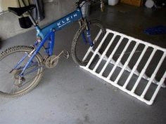 pvc bike rack...link goes nowhere but easy enough to figure out from the picture