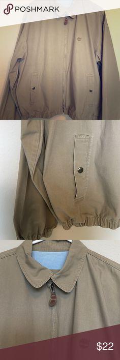 Khaki Timberland jacket sz large Size large, worn a few times, very clean. Nice lite warm jacket Timberland Jackets & Coats Lightweight & Shirt Jackets