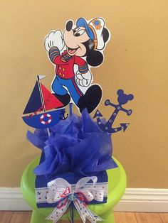 Sailor Mickey Mouse inspired Centerpiece Nautical Mickey by SOUTHFLOWER | Etsy