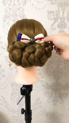 Einfache und elegante Hochsteckfrisur – Hairstyles I like – Simple and elegant updo – Hairstyles I like – [. Pretty Hairstyles, Braided Hairstyles, Wedding Hairstyles, Hairstyles 2018, Female Hairstyles, Hairstyles Pictures, Style Hairstyle, Elegant Hairstyles, Long Hairstyles