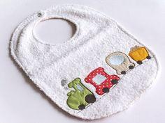 baby bib boy embroidered train bib for little boy by cucicreando, €14.00